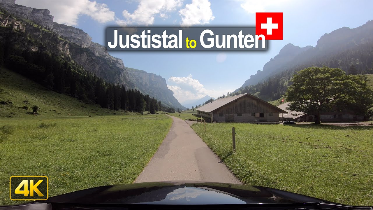 Driving from Justistal to Gunten – Scenic Drive Switzerland!