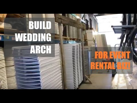 Building Wedding Arch - For Event Rental Business - From Reclaimed Wood!