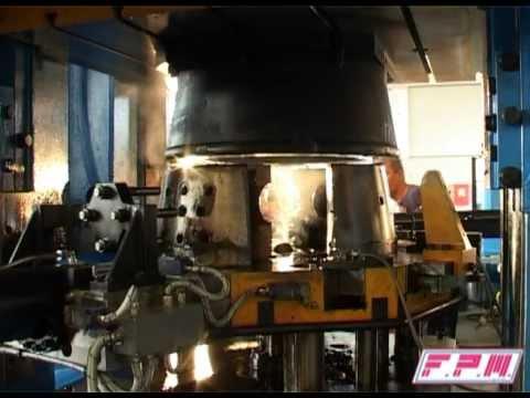 pressa Rovetta FO 550 revisionata da FPM Group Spa - per stampaggio a caldo ottone