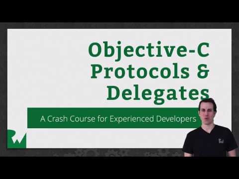 Objective-C Protocol and Delegates- raywenderlich.com