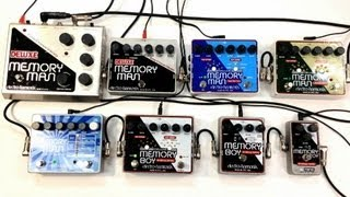 Electro Harmonix Delay Shootout Deluxe Memory Man Boy Toy 550TT Tap Analog Digital