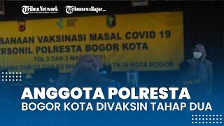 Ratusan Personel Polresta Bogor Kota Kembali Jalani Vaksinasi Covid-19