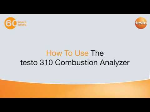 How To Use the testo 310 Combustion Analyzer