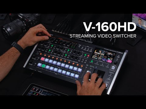 Introducing the Roland V-160HD Streaming Video Switcher
