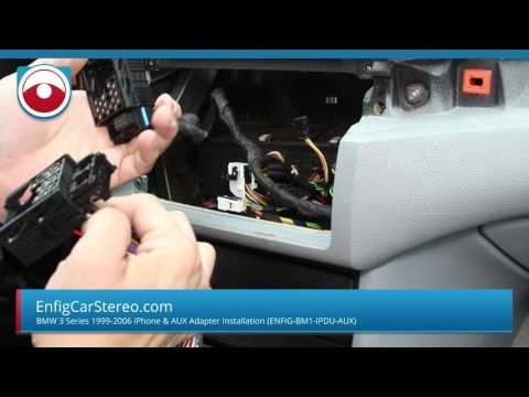 Installation BMW 3 Series 1998-2006 E46 iPhone iPod AUX adapter Enfig BM1-IPDU-AUX