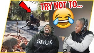 Try Not To Laugh Challenge - Dion vs Trent (Laugh Addicts Ep.1)