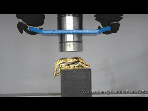 $20 000 Rolex gold watch vs Hydraulic Press – How to make gold!
