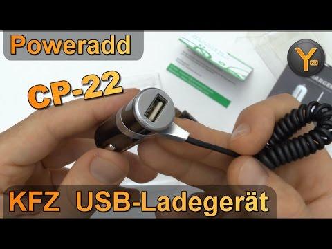 Kurztest: Poweradd KFZ USB Adapter CP-22 für Auto Zigarettenanzünder / Car USB Charger