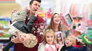 Sneaky Parents Go Christmas Shopping with 3 Kids!