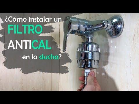 Instalar un filtro antical en la ducha | Español