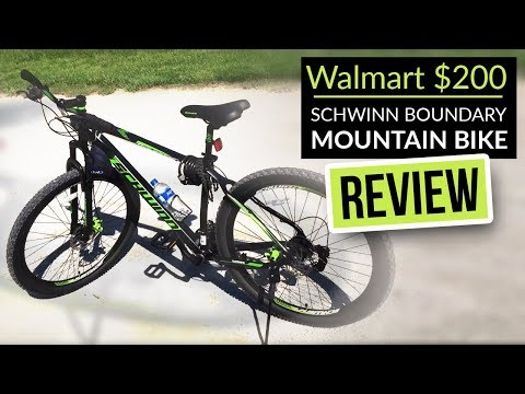 Walmart $200 Schwinn boundary mountain bike review for the heavier rider