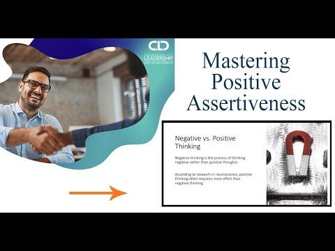 Mastering Positive Assertiveness - Course Demo - YouTube