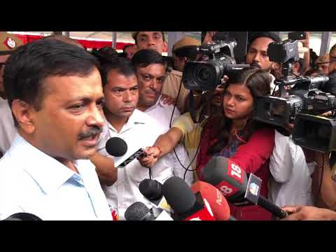 Delhi CM Arvind Kejriwal Briefs Media During the Launch of the Tree Plantation Drive