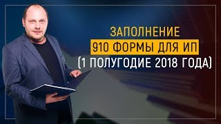Заполнение 910 формы для ИП (2 полугодие 2018 год)