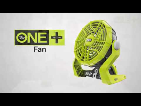Ryobi ONE+ 18V Cordless Fan Introduction Video