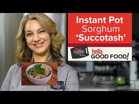 Instant Pot Vegan Sorghum Succotash