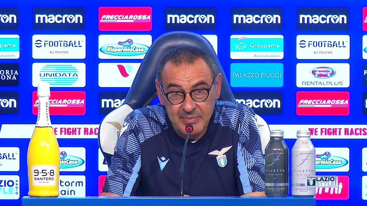 Maurizio Sarri prima di Lazio-Spezia (27/08/2021)