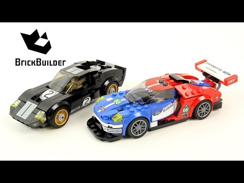 Vidéo LEGO Speed Champions 75881 : 2016 Ford GT & 1966 Ford GT40