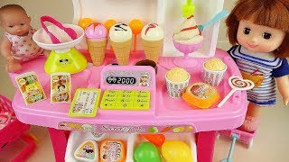 Baby doll Ice Cream shop and Kitchen cooking toys play