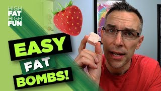 Strawberry Cheesecake Fat Bombs | Five Ingredients, Less Than One Net Carb! 🍓💣