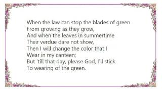Judy Garland - The Wearing of the Green Lyrics