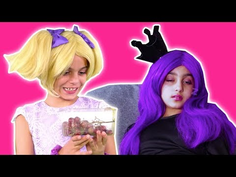 Esme Can't Stop Sleepwalking 😴 Malice's Magic Grapes Prank - Princesses In Real Life | Kiddyzuzaa