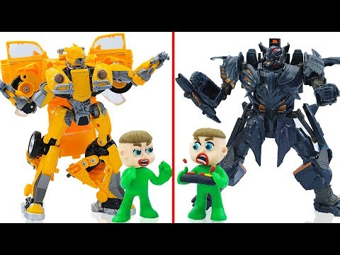 SUPERHERO BABY MEETS MEGATRON BUMBLEBEE 💖 Play Doh Cartoons Animation