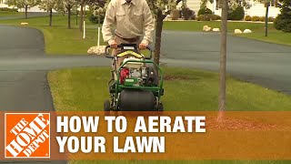 How to Aerate Lawns with the Ryan Pro Turf Lawn Aerator Rental | The Home Depot