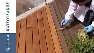 Maintenance of Wooden Floor with Decking Oil Borma Wachs
