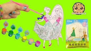 Disney Frozen Fever Coloring Paint Set - Painting Princess Anna Craft Fun Video Cookieswirlc
