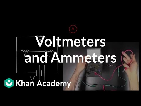 Voltmeters and Ammeters (video) | Khan Academy on