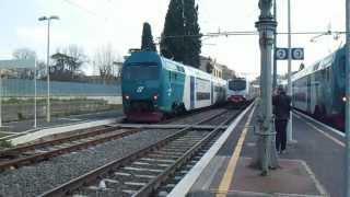 preview picture of video 'Doppia di E464 sull' Aldebaran in transito a Bracciano'