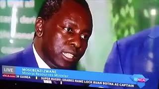 """I AM A RIVER... VENOM IS JUICE!"" - Mosebenzi Zwane *Hilarious*"