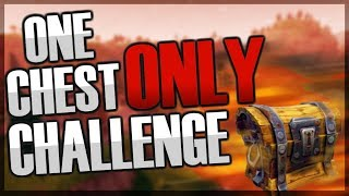 INSANE ONE CHEST ONLY CHALLENGE!! | Fortnite Battle Royale Gameplay!!