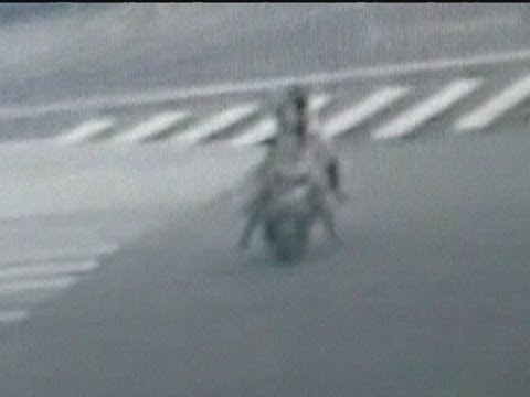 Dramatic Chinese bike crash caught on camera