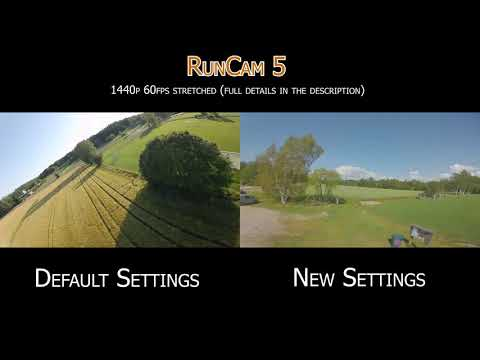 RunCam 5 smoother color with more shadow detail settings vs default settings