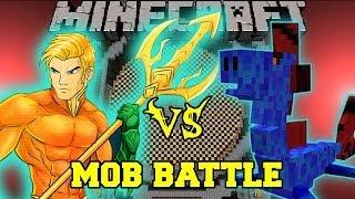 WATER DRAGON VS AQUAMAN - Minecraft Mod Battle - Mob Battles - OreSpawn and Superheroes Mods