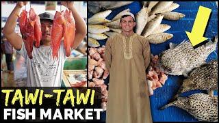 CHEAPEST PHILIPPINES FISH MARKET? AND WILD! - Muslim Mindanao, Tawi-Tawi