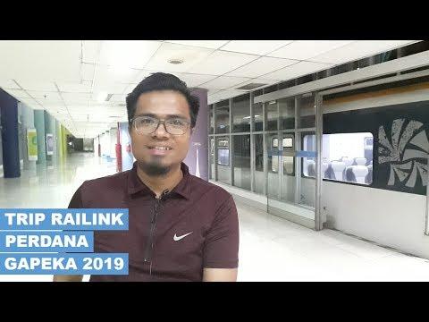 PERDANA... TRIP KA BANDARA PERTAMA MELINTASI JALUR LAYANG   Hari Pertama Gapeka 2019 PART 1