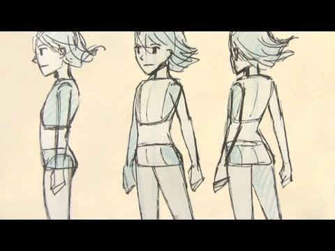 how to draw bodies from the side