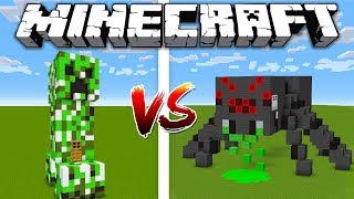Minecraft CREEPER HOUSE vs SPIDER HOUSE / Minecraft battle