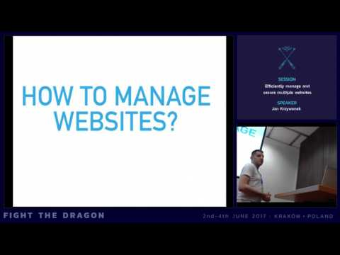 JAB17 - Efficiently manage and secure multiple websites