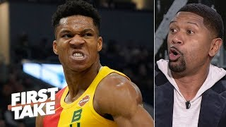 Giannis is better than James Harden, but isn't the MVP - Jalen Rose | First Take