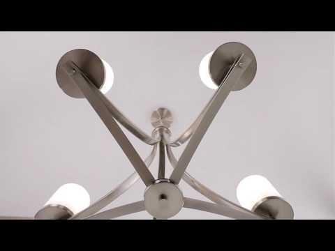 Video for Nicollet Satin Nickel Five-Light Chandelier