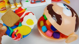 Play doh Dentista and Baby doll play doh kitchen cooking toys play - 토이몽