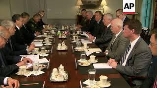 US Defence Sec. Mattis welcomes Uzbek President to Pentagon