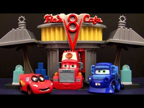Cars 2 Radiator Springs Speed Trap Track Set Launcher Mini Adventures Mack truck hauler Disney Pixar