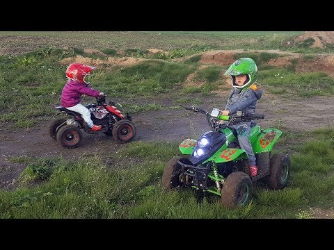 2.5 & 4 years old on Electric Quads - ECO Bigfoot & ECO Repti 800W 36V