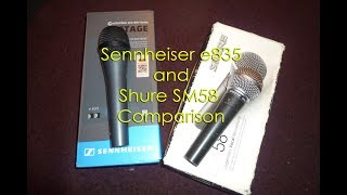 Sennheiser E835 Unboxing & Comparison With SHURE SM58