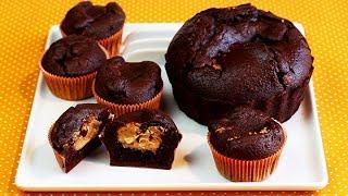 CHOCOLATE PEANUT BUTTER CUPCAKES | Giant Cupcake